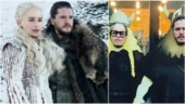 Game of Thrones star Emilia Clarke shares hilarious family portrait with co-star Kit Harington