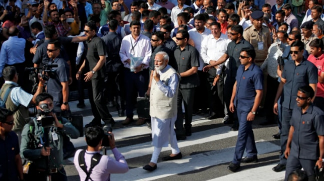 EC seeks report from Gujarat poll authorities on PM Modi roadshow