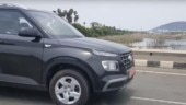Hyundai Venue base variant spotted, does not feature alloy wheels and projector headlamps