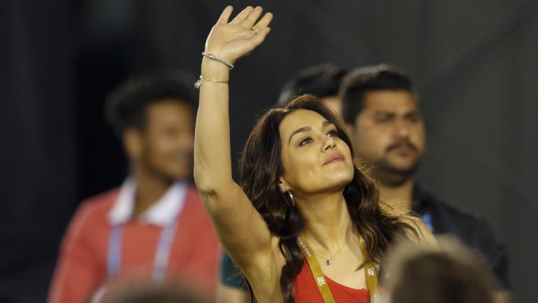 KXIP co-owner Preity Zinta flaunts her language skills with