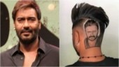 Fan from Punjab gets Ajay Devgn's face on the back of his head. Watch how