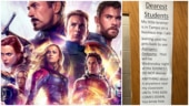Avengers Endgame: Teacher puts hilarious notice outside classroom to avoid spoilers. Internet hearts it