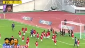 What happens when 3 Japanese football stars take on 100 kids? Video goes viral