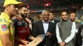 IPL 2019: Dhoni, Kohli present signed t-shirts to Maldives president in Bengaluru