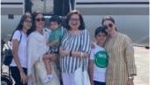 Kareena Kapoor, Taimur Ali Khan and Karisma Kapoor join Babita for birthday celebrations. See pics
