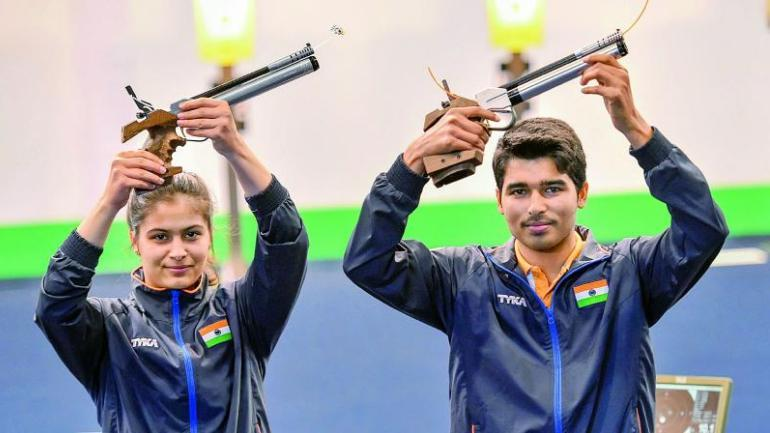 Image result for manu bhaker saurabh chaudhary