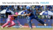 Rohit Sharma stops ball with leg to not get stumped. Becomes latest meme online