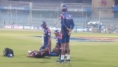 Major injury scare for India ahead of World Cup as Rohit Sharma limps off MI training