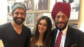 Farhan Akhtar and Shibani Dandekar recently met Milkha Singh in Chandigarh