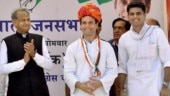 Ashok Gehlot and Sachin Pilot with Congress chief Rahul Gandhi (Photo: PTI)