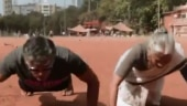 Milind Soman screams My Mommy Strongest as Usha nails 16 push-ups. Watch viral video