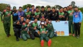 Bangladesh players pose with the winning trophy
