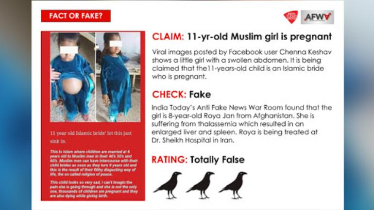 No, this young Muslim girl is not pregnant - Fact Check News