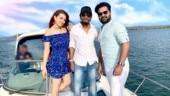 Simbu joins ex-girlfriend Hansika on Maha shoot. See pics