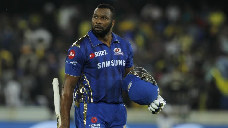 IPL 2019 final: Kieron Pollard protests against umpire call in last over from Bravo