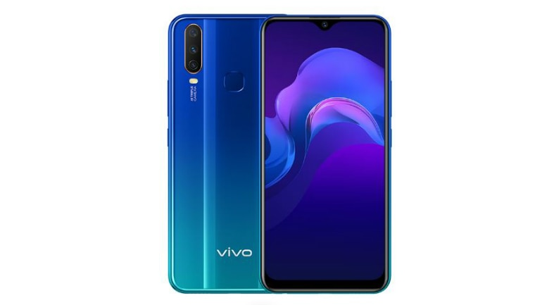bac607b1028 Vivo Y15 with AI triple rear camera