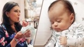 Left Right Left actress Deeya Chopra's son Evaan looks cute as a button in this adorable photo