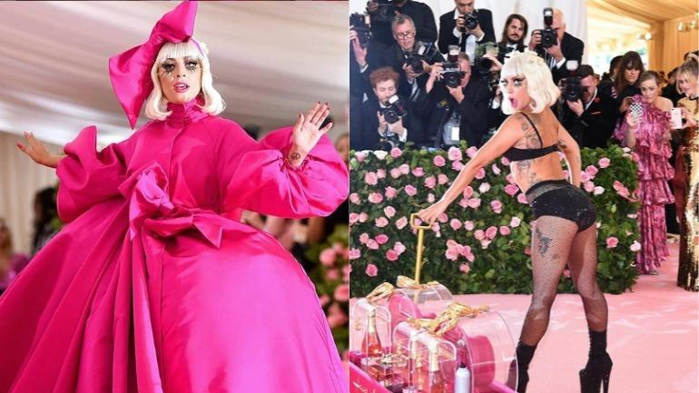più economico Sconto del 60% speciale per scarpa Lady Gaga steals the Met Gala 2019 show with striptease on ...
