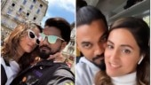Hina Khan enjoys meal with beau Rocky in Milan, misses mommy