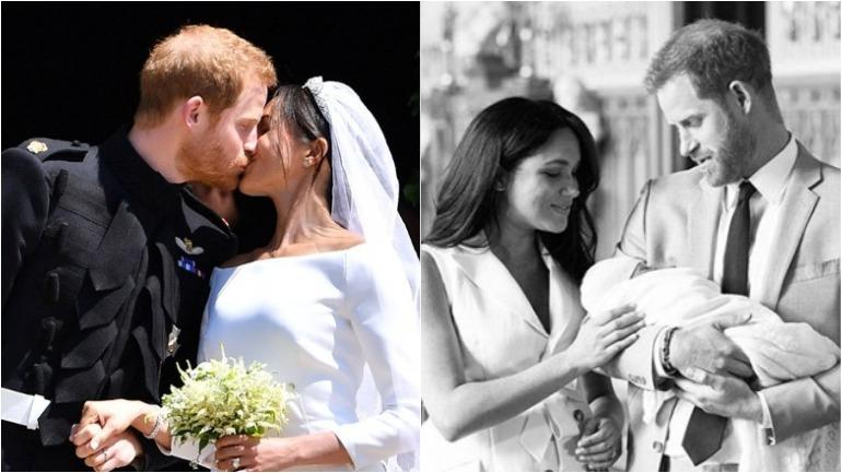 Prince Harry And Meghan Markle Wedding.New Mommy Meghan Markle And Prince Harry Celebrate First Wedding