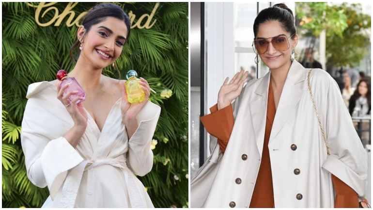 Sonam Kapoor Arrives in Chic Outfit at French Riviera for Cannes Film Festival
