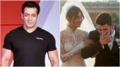 Salman Khan again took a jibe at Priyanka Chopra for choosing her wedding with Nick Jonas over Bharat.