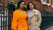 Neena Gupta in thigh-high slit mini dress rings in 60th birthday with Masaba in London. See pics