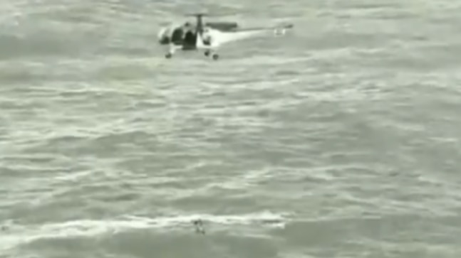 Watch: Indian Coast Guard rescues man swept away by heavy waves in Goa