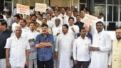 Maharashtra opposition MLAs protest against government ahead of monsoon session