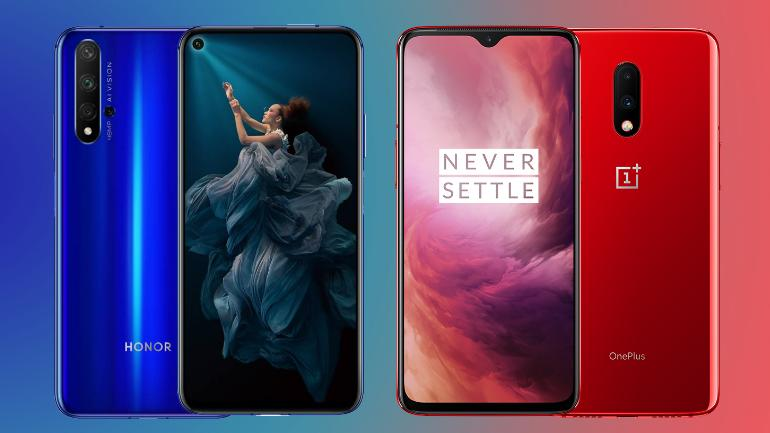 OnePlus 7 vs Honor 20: Two feature packed premium