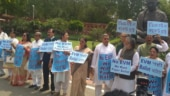TMC stages protest outside Parliament against EVMs, says we want paper ballots