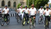 UP DGP promotes cycling for community-friendly policing, fitness maintenance