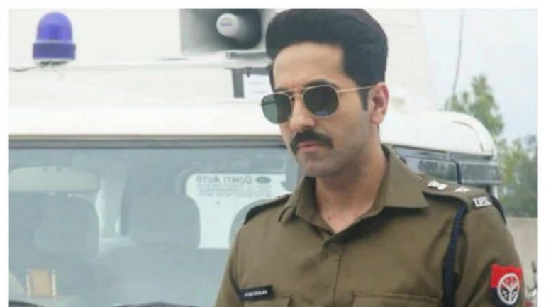 Article 15 Movie Review: Ayushmann Khurrana in a still from the film.