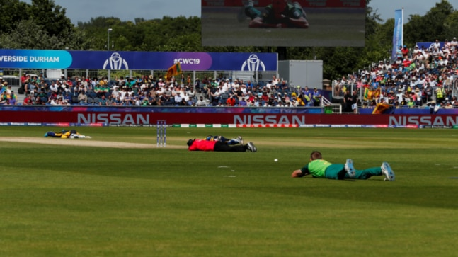 World Cup 2019: Swarm of bees invades pitch during SL vs SA match