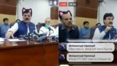 Pakistan's Khyber Pakhtunkhwa govt live streams press conference with cat filter on. Twitter dies laughing