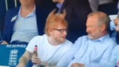 Ed Sheeran drinks his favourite Indian beer during England vs Australia ICC World Cup match