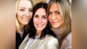 Friends stars Jennifer Aniston, Courteney Cox and Lisa Kudrow have an epic reunion. See pics