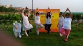 International Yoga Day: Locals, foreign tourists practice yoga in Agra