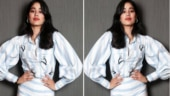 Janhvi Kapoor defines class in edgy co-ord pinstripe shirt and pants. See pics