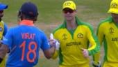 Class act: Darren Lehmann lauds Virat Kohli as India captain stops fans from booing Steve Smith