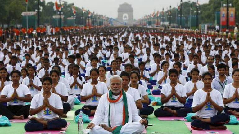 On the 5 th edition of International Yoga Day, the theme is decided as 'climate action' by the UN.