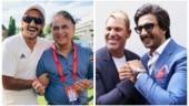 83: Ranveer Singh has fanboy moments with Sunil Gavaskar and Shane Warne. See pics