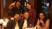 102 Not Out reunion: Director Umesh Shukla meets Rishi and Neetu Kapoor in NYC. See pic