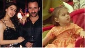 Baby Sara Ali Khan looks beyond adorable as she plays with dad Saif on sets. Watch viral video