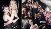 Game of Thrones star Sophie Turner celebrates bachelorette party with Maisie Williams