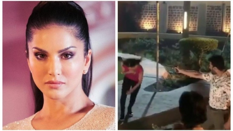 Watch: Sunny Leone gets shot on film sets  Hope you are okay