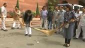 Video of Hema Malini sweeping goes viral
