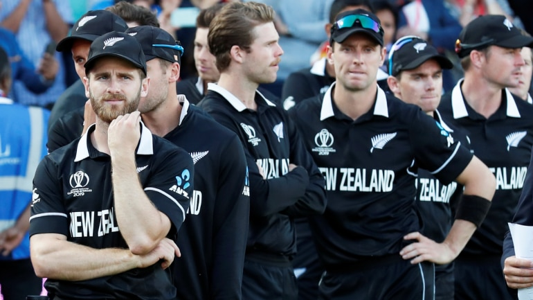 New Zealand players were visibly disappointed after the World Cup 2019 final loss