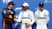 German Grand Prix: Lewis Hamilton on pole, both Ferraris out