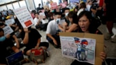 Protesters call for free Hong Kong converge at city airport